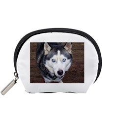 Siberian Husky Blue Eyed Accessory Pouches (Small)