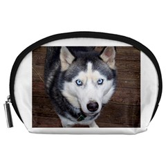 Siberian Husky Blue Eyed Accessory Pouches (Large)