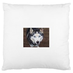 Siberian Husky Blue Eyed Standard Flano Cushion Case (Two Sides)