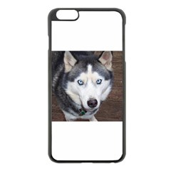 Siberian Husky Blue Eyed Apple iPhone 6 Plus/6S Plus Black Enamel Case