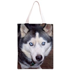 Siberian Husky Blue Eyed Classic Light Tote Bag