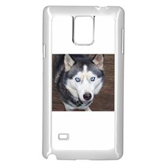 Siberian Husky Blue Eyed Samsung Galaxy Note 4 Case (White)