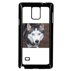 Siberian Husky Blue Eyed Samsung Galaxy Note 4 Case (Black)
