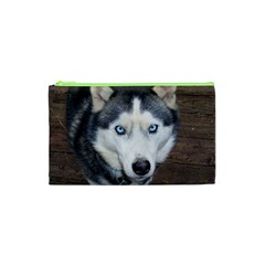 Siberian Husky Blue Eyed Cosmetic Bag (XS)