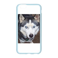 Siberian Husky Blue Eyed Apple Seamless iPhone 6/6S Case (Color)