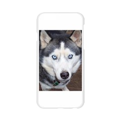 Siberian Husky Blue Eyed Apple Seamless iPhone 6/6S Case (Transparent)