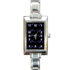 Xmas elegant blue snowflakes Rectangle Italian Charm Watch