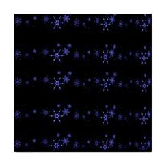 Xmas elegant blue snowflakes Tile Coasters