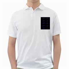 Xmas elegant blue snowflakes Golf Shirts