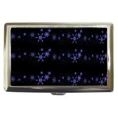 Xmas elegant blue snowflakes Cigarette Money Cases