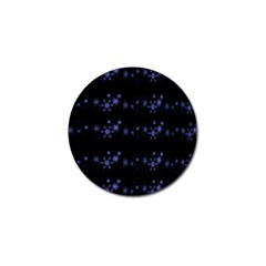 Xmas elegant blue snowflakes Golf Ball Marker (4 pack)
