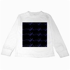 Xmas elegant blue snowflakes Kids Long Sleeve T-Shirts