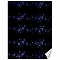 Xmas elegant blue snowflakes Canvas 18  x 24