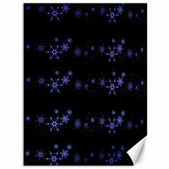 Xmas elegant blue snowflakes Canvas 36  x 48