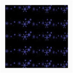 Xmas elegant blue snowflakes Medium Glasses Cloth (2-Side)
