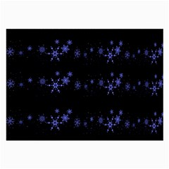 Xmas elegant blue snowflakes Large Glasses Cloth
