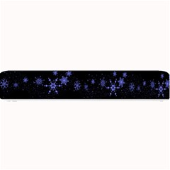 Xmas elegant blue snowflakes Small Bar Mats