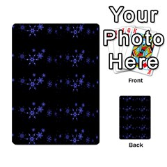 Xmas elegant blue snowflakes Multi-purpose Cards (Rectangle)