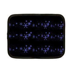 Xmas elegant blue snowflakes Netbook Case (Small)