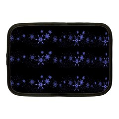 Xmas elegant blue snowflakes Netbook Case (Medium)