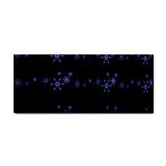 Xmas elegant blue snowflakes Hand Towel