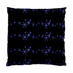 Xmas elegant blue snowflakes Standard Cushion Case (One Side)