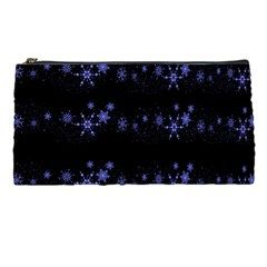 Xmas elegant blue snowflakes Pencil Cases