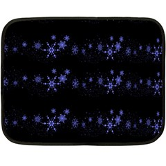 Xmas elegant blue snowflakes Double Sided Fleece Blanket (Mini)