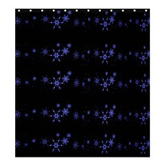 Xmas elegant blue snowflakes Shower Curtain 66  x 72  (Large)