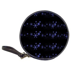 Xmas Elegant Blue Snowflakes Classic 20 Cd Wallets