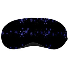 Xmas elegant blue snowflakes Sleeping Masks