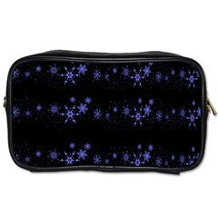 Xmas elegant blue snowflakes Toiletries Bags 2-Side