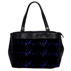 Xmas elegant blue snowflakes Office Handbags