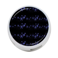 Xmas elegant blue snowflakes 4-Port USB Hub (One Side)