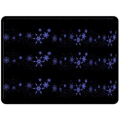 Xmas elegant blue snowflakes Fleece Blanket (Large)