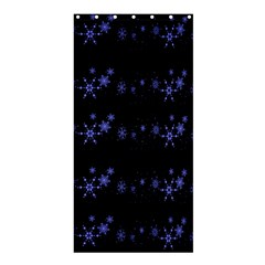 Xmas elegant blue snowflakes Shower Curtain 36  x 72  (Stall)