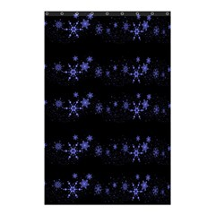 Xmas elegant blue snowflakes Shower Curtain 48  x 72  (Small)