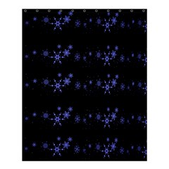 Xmas elegant blue snowflakes Shower Curtain 60  x 72  (Medium)