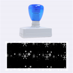 Xmas elegant blue snowflakes Rubber Stamps (Large)