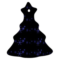 Xmas elegant blue snowflakes Christmas Tree Ornament (2 Sides)
