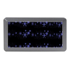 Xmas elegant blue snowflakes Memory Card Reader (Mini)