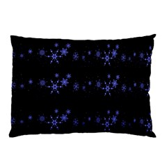 Xmas elegant blue snowflakes Pillow Case (Two Sides)