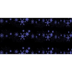 Xmas elegant blue snowflakes YOU ARE INVITED 3D Greeting Card (8x4)