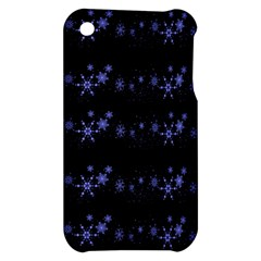 Xmas elegant blue snowflakes Apple iPhone 3G/3GS Hardshell Case