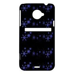 Xmas elegant blue snowflakes HTC Evo 4G LTE Hardshell Case