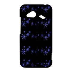 Xmas elegant blue snowflakes HTC Droid Incredible 4G LTE Hardshell Case