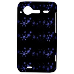 Xmas elegant blue snowflakes HTC Incredible S Hardshell Case