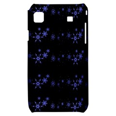 Xmas elegant blue snowflakes Samsung Galaxy S i9000 Hardshell Case