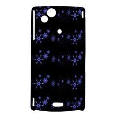 Xmas elegant blue snowflakes Sony Xperia Arc