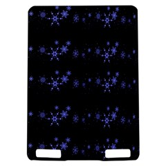 Xmas elegant blue snowflakes Kindle Touch 3G